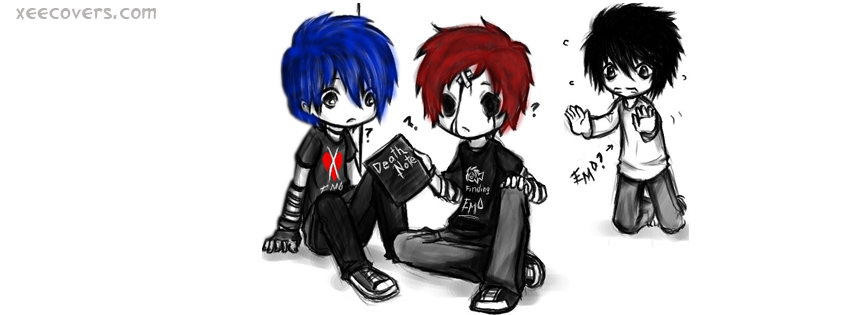 Emo Death Note facebook cover photo hd
