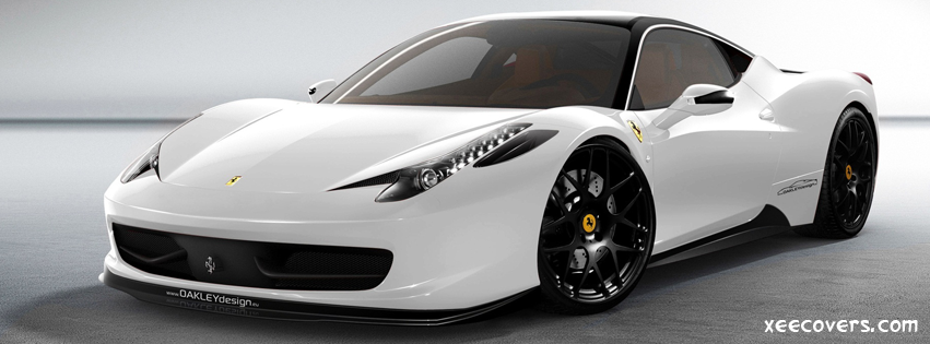 Ferrari 458 Italia White FB Cover Photo HD