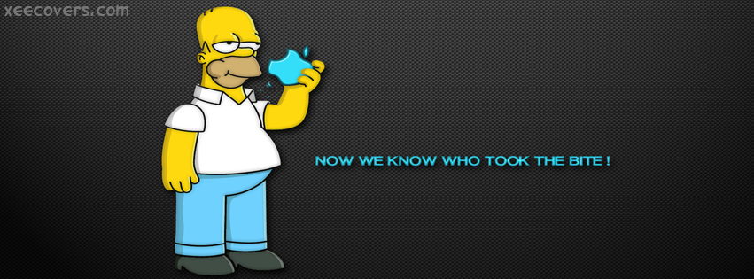 Homer Apple FB Cover Photo HD
