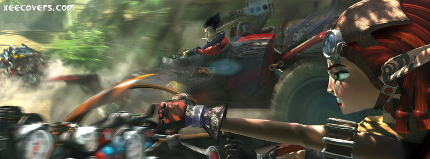 Jak X Combat Racing Red FB Cover Photo HD