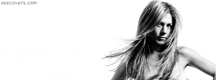 Jennifer Aniston Black & White FB Cover Photo HD