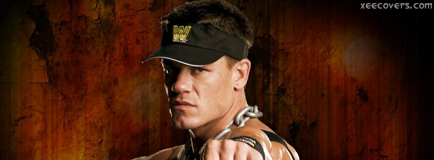 Jhon Cena Wearing Cap Of W FB Cover Photo HD