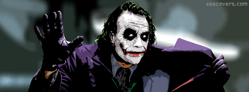 Joker Batman In Action facebook cover photo hd
