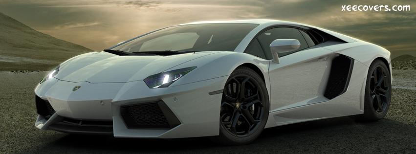 Lamborghini Aventador White FB Cover Photo HD