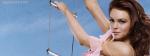 Lindsay Lohan Pink Dress