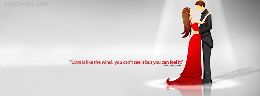 Love Is Like A Wind facebook cover photo hd