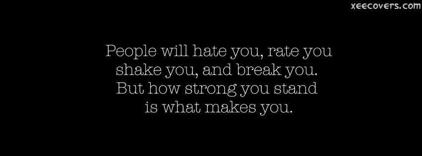 People Will Hate You FB Cover Photo HD