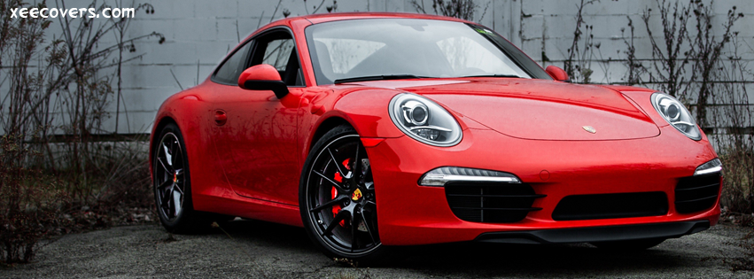 Porsche 991 Red FB Cover Photo HD