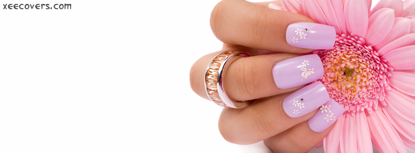 Purple Nails facebook cover photo hd