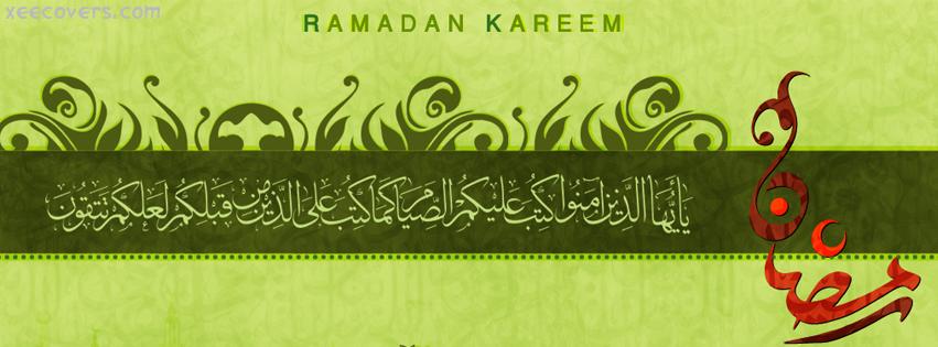 Ramadan Kareem Red Calligraphy facebook cover photo hd