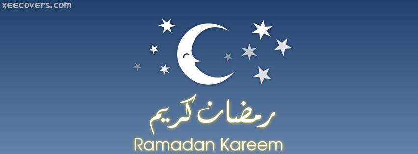 Ramzan Beautiful Moon facebook cover photo hd