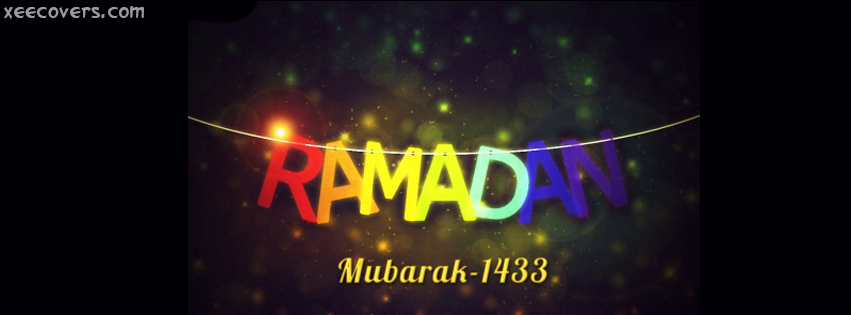 Ramzan Kareem Mubarik 1433 FB Cover Photo HD