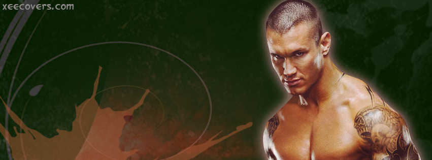 Randy Orton In Action facebook cover photo hd