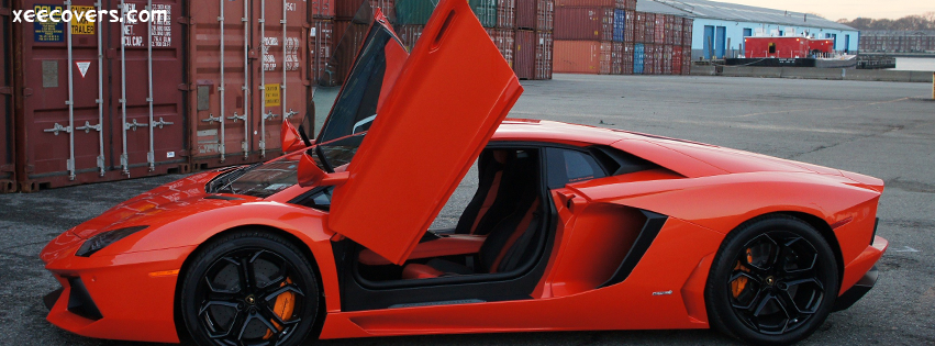 Red Lamborghini FB Cover Photo HD