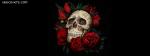 Skull Roses Love Never Dies