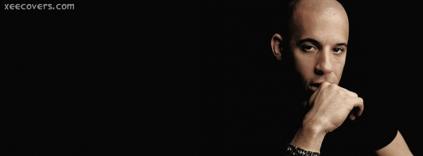 Vin Diesel Black Back Ground facebook cover photo hd