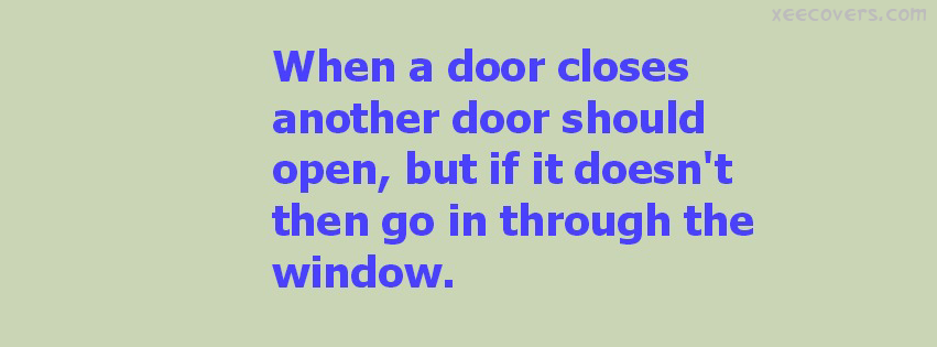 When A Door Closes Another Door Should Open FB Cover Photo HD
