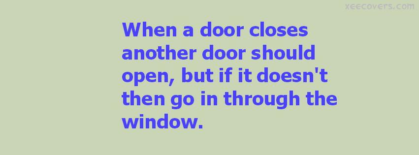 When A Door Closes Another Door Should Open FB Cover Photo HD
