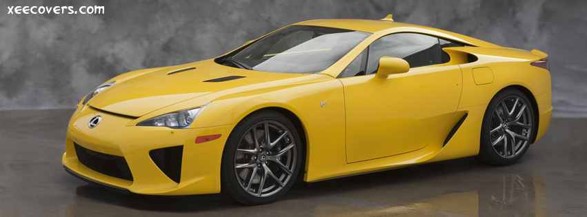 Yellow Lexus LFA FB Cover Photo HD
