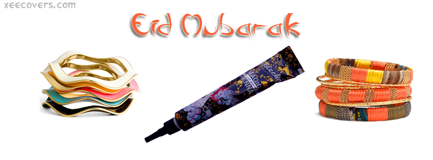 Eid Mubarak And Colourfull Bangles FB Cover Photo HD
