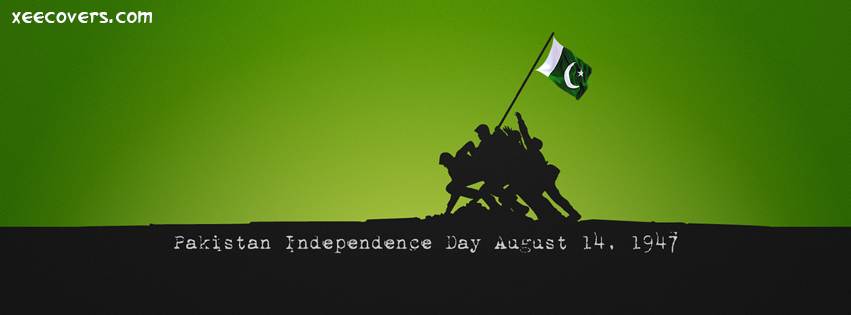 Pakistan Independence Day August 14 facebook cover photo hd