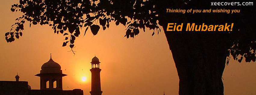 Thinking Of U And Wishing You Eid Mubarak FB Cover Photo HD
