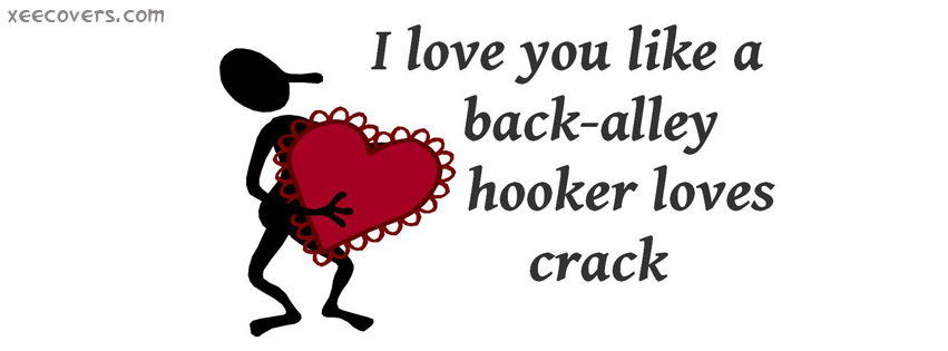 I Love You Like A Back-Alley Hooker Loves Crack facebook cover photo hd