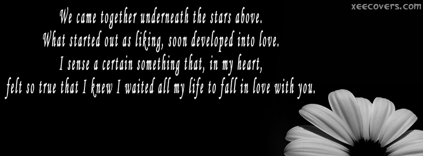 We Came Together Underneath The Stars Above FB Cover Photo HD