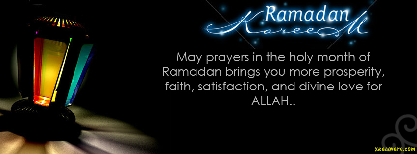 Dua For You In Ramzan Kareem facebook cover photo hd