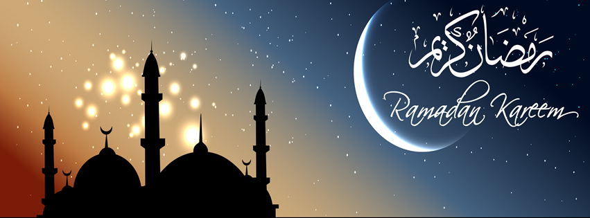 Ramzan Kareem Moon and Stars FB Cover Photo HD