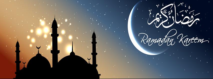 Ramzan Kareem Moon and Stars FB Cover Photo HD