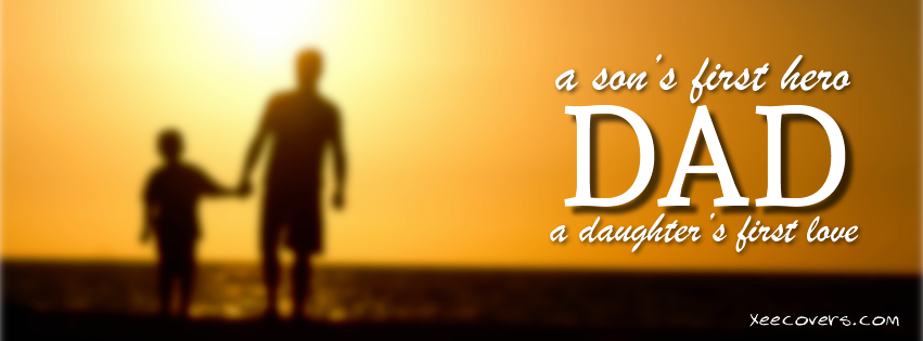 daughter loves dad father day FB Cover Photo HD