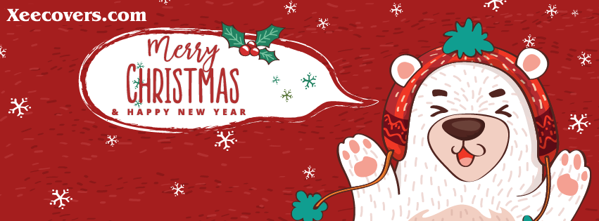 Merry Christmas And Happy New Year FB Cover Photo HD